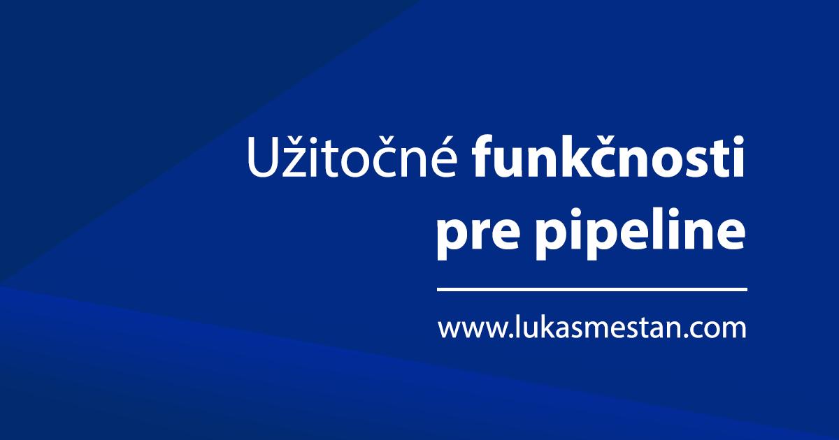 Jenkins CI Pipeline scripting | Lukáš Mešťan